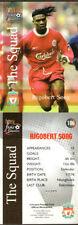 Liverpool Football Trading Cards Season 1999