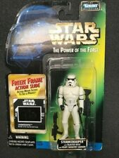 Star Wars The Power of The Force Stormtrooper w/ Blaster Rifle Freeze Frame