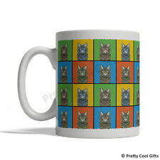 American Bobtail Cat Mug - Cartoon Pop-Art Coffee Tea Cup 11oz Ceramic