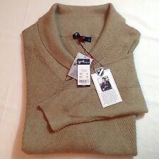 Daniel Cremieux Men Shawl Cotton/Silk Sweater Taupe Heather XL $89.50 New