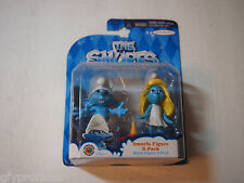 """THE SMURFS Jakks Pacific SMURFETTE & CLUMSY  3"""" Figures 2 pack SEALED"""