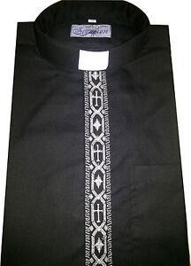 CLERGY/ CLERICAL VICAR PRIEST COLLAR LONG SLEEVE SHIRT