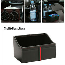Car Seat Handrail Storage Box w/Water Cup Holder Car Sundry Organizer Tissue Box
