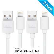 2-Pack USB Charger Data Cable Charging Lead Wire for iPhone iPad iPod