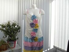 """ever pretty"" ladies white summer dress size 16"