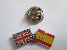 Spain & Uk Friendship Enamel Metal Lapel Pin  -24 x 8mm   -  L090