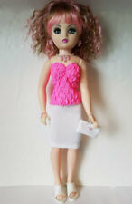 "CISSY DOLL CLOTHES Top Skirt Purse & Jewelry handmade 21"" Fashion NO DOLL d4e"