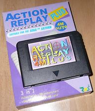 BLACK version Sega Saturn ACTION REPLAY PLUS 4M New TESTED memory card 1/4 RAM