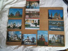 Colour Postcards of Yaroslav, Russia. 8 of set of 12