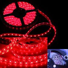 Rotolo 5 metri led rosso fuoco 12V.Striscia + adesivo 5m.300 led rossi red caldo