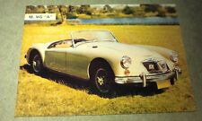 1962 MGA Sports Car  Weetbix Australia Swap Trade Card