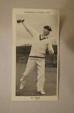 1953 - Vintage - Morning Foods Ltd. - Cricket Card - D.T. Ring - Victoria.