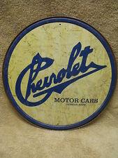 Chevrolet Historic Logo Chevy Tin Metal Sign Car Truck Auto Round Car Truck