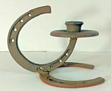 Rustic Handmade Horseshoe Taper Candle Holder