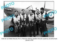 OLD 6 x 4 PHOTO FEATURING IRISH WWII AIR ACE PADDY FINUCANE WITH PLANE c1942