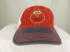 Sesame Street 123 Elmo Baseball Hat Cap Red White Brown Adjustable