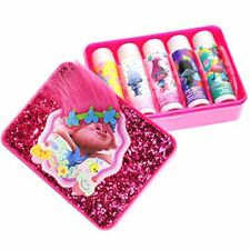 Townley Girl Dreamworks Trolls Sparkly Lip Balm For Girls, 5 pack with