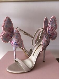 Sophia WebsterEmbroidery Chiara Butterfly Sandal Heel Nude Pink Size 6.5B/36.5M