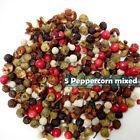 ✅ORGANIC 5 Colour Mixed Whole Dried Peppercorns Black White Pink Green SZECHUAN