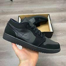 Nike Air Jordan 1 Low Triple Negro Cesta Bola Zapatos UK 12 nos 13 EUR 47.5