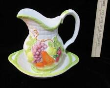 Pitcher & Basin Miniature Decorative Set Fruit Design Brinns Ceramic Small