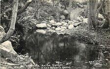 Vintage RPPC Real Photo Postcard Santa Anita Canyon Near Robert's Camp Chantry