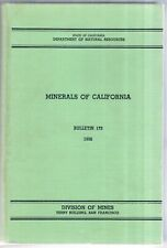 Minerals of California Book 1956 Bulletin 173 - great condition