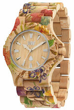 WeWood Up-To-Date Flower Beige Women´s Wood Watch ww01013