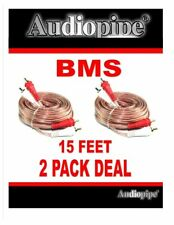 2 PIECES 15 FT RCA Stereo Car Home Audio Interconnect Patch Cable Cords Gold