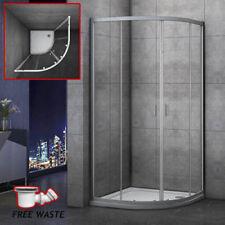 1000×1000mm Quadrant Shower Enclosure Walk In Corner Cubical Glass Door Tray