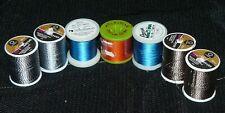 Lot of 7 Spools Thread Coats Twist Rayon Madeira Rayon Molnlycke