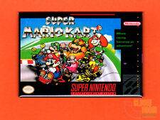 "SNES Super Mario Kart box art 2x3"" fridge/locker magnet Super Nintendo"