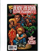 Lot of 4 Heroes Reborn The Return Marvel Comic Books #1 2 3 4 J197