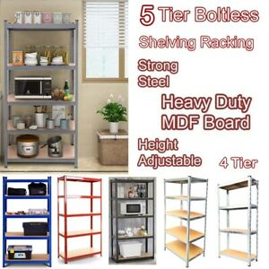 Heavy Duty Strong Metal Boltless Adjustable Shelving Racking Storage Rack Multi