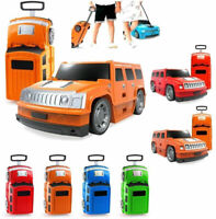 Kids Holiday Travel Car Hard Shell Suitcase Luggage Trolley Bag Wheels Cabin Toy