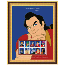 USPS New Disney Villains Gaston Framed Art