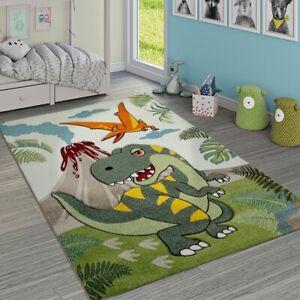 Tappeto per Cameretta dei bambini Grazioso Dinosauri Giungla Vulcano Effetto 3-D