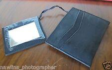 EDDIE BAUER WALLET with detachable mirror Black Leather Wallet New #5331