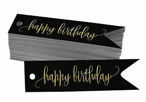 Real Foil Paper Tags Happy Birthday Favor Tags-BY-SH1_16BG