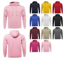 FashionOutfit Men's Basic Solid Sporty Cotton Pullover Fleece Hooded Sweatshirt