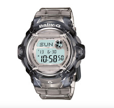 Baby-G BG169R Women's Grey Resin Digital Watch 35112 With Translucent Grey Band