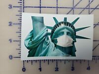 Statue of Liberty Face Mask Sticker Decal Car Truck  Vinyl Window Bumper Laptop