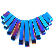multi color titanium natural hematite gemstone beads pendant stone set DIY