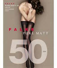 Falke Pure Matt 50 Thigh Highs Stay-ups Hold-ups Color Black Size: Medium 41551