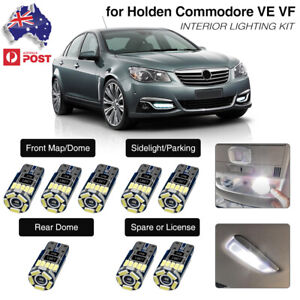 For Holden Commodore VE VF Xenon White Interior LED Light Kit Dome Reading Bulbs
