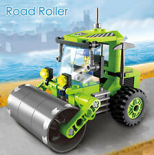 102Pcs/Bag Engineering Road Roller Building Blocks + Figure Toys Kids Gifts
