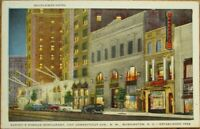 Washington, DC 1940s Postcard: Mayflower Hotel & Harvey's Famous Restaurant