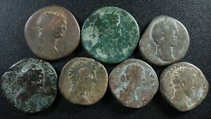 Lot of 7 Sestertii All different rulers see description Sestertius Sesterce