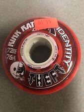 Rink Rat Identity Theft 76A Roller Hockey 72mm Wheels Red Inline Indoor