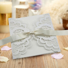 50*Personalised Wedding Invitation Laces Laser Cut FREE ENVELOPES USA SALE!